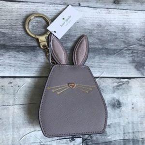Kate Spade Bunny Rabbit Keychain Key Fob Bag Charm